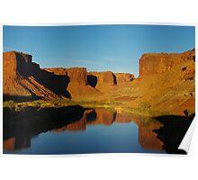 Colorado River at sunset near Mineral Bottom, Utah Poster