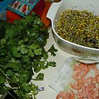 The makings of shrimp salad by alamarmie