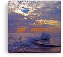 Sunset Splash at Victoria Beach Canvas Print