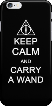 Harry Potter: Keep Calm and Carry a Wand - Iphone Case  by sullat04