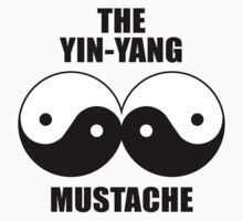 Yin-Yang Mustache Kids Clothes