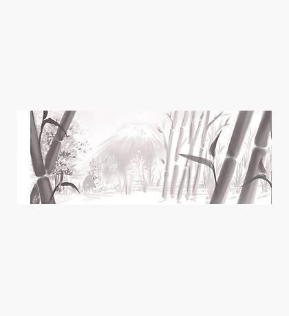 Totoro sumi-e Photographic Print