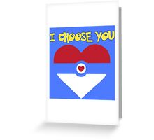 Pokeheart Greeting Card