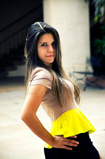 Yellow Skirt by jswolfphoto
