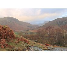 Autumn In The Little Langdale Valley Photographic Print