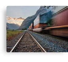 Along Kicking Horse Pass Canvas Print