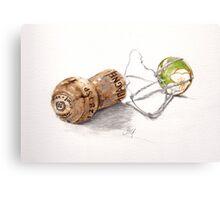 Champagne cork Canvas Print