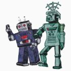 ROBOTS -ROD & RICKY (LARGER IMAGE) by KERRY  LENNON