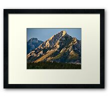 Yellow Mountain Top Framed Print