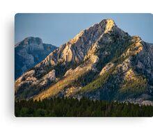 Yellow Mountain Top Canvas Print