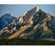 Yellow Mountain Top Photographic Print