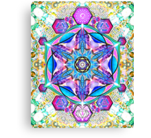 Om-Adjna 'dubstep' mandala Canvas Print