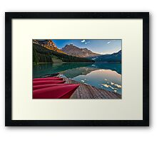 Red Canoe View Framed Print