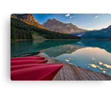 Red Canoe View Canvas Print