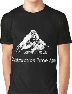 DM : Construction Time Again - White Graphic T-Shirt