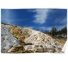 Mammoth Terraces, Yellowstone National Park, Wyoming Poster