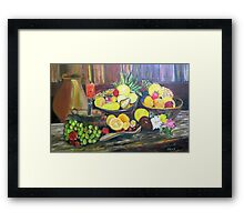 ©AeroArt Bodegon Oil I Framed Print