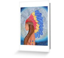 indian beauty in the moonlight  Greeting Card