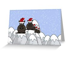 Merry Christmas happy holidays card with kangaroos australian aussie christmas Greeting Card