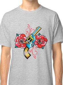 Gun and Roses Tattoo Flash Classic T-Shirt