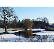 Icy Lake Photographic Print