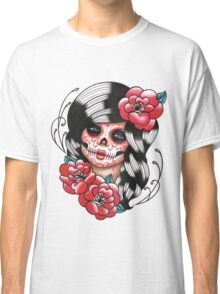 Day of the Dead Sugar Skull Girl Tattoo Flash Shirt Classic T-Shirt