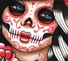 Day of the Dead Sugar Skull Girl Tattoo Flash Shirt Sticker