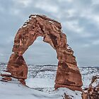 Delicate Arch in Winter - Arches National Park, UT by Mary Warner