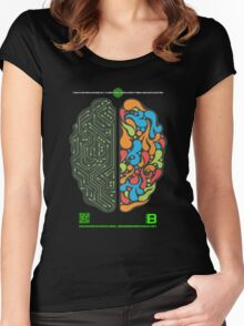 DEC 2012 MERCH LEFT RIGHT HEMISPHERE VISUALLY EXPLAINED Women's Fitted Scoop T-Shirt