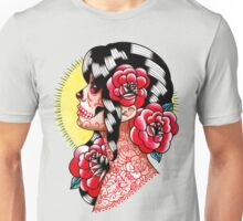 Dia De Los Muertos Sugar Skull Girl Tattoo Flash  Unisex T-Shirt