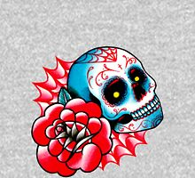 Old School Sugar Skull and Rose Tattoo Flash Unisex T-Shirt