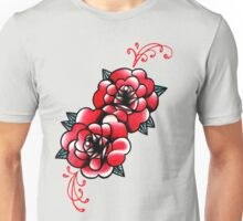 Traditional Rose Tattoo Flash Design Unisex T-Shirt