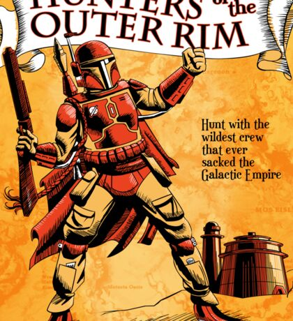 Bounty Hunters of the Outer Rim Sticker