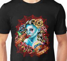 Live Fast Die Pretty Zombie Tattoo Flash Unisex T-Shirt
