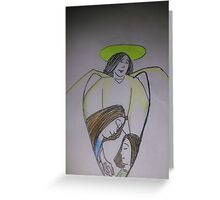 Guardian Angel for Domesstic Abuse awareness Greeting Card