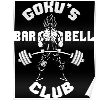 Goku's Barbell Club Poster