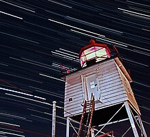Harbor Light Startrails by Scott Canfield