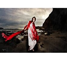 A dance of the blude red veil Photographic Print