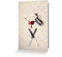 mystery dining table Greeting Card