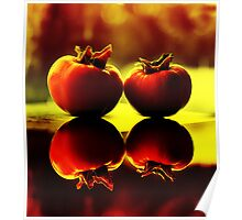 Persimmon Sunset Poster