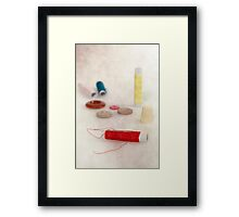 sewing supplies Framed Print