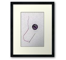 button, needle, thread Framed Print