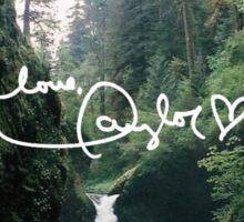 LOVE, TAYLOR waterfall scenery Sticker