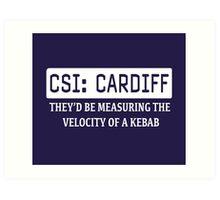 CSI Cardiff Art Print