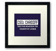 CSI Cardiff Framed Print