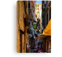 Cafe in a Dubrovnik Alley Canvas Print