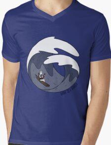 Dark Sea Panic  - Ukulele In The Storm Mens V-Neck T-Shirt