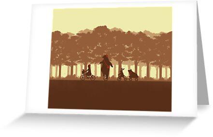 Biking with Friends by pigboom