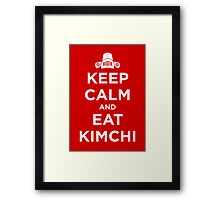 Keep Calm and Eat Kimchi Framed Print