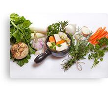 vegetable soup Canvas Print